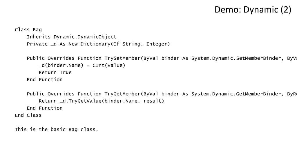 Demo: Dynamic (2)
