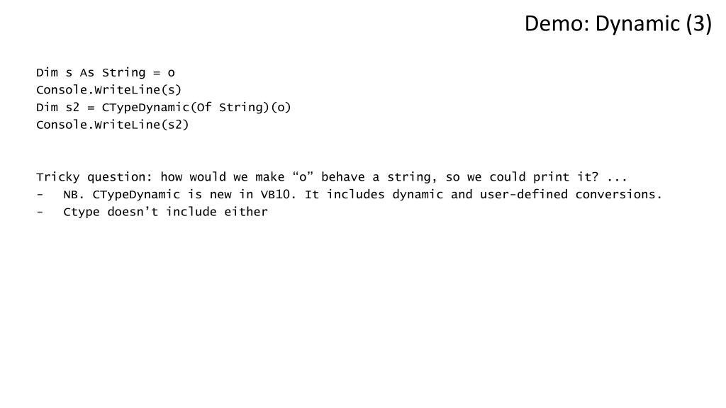 Demo: Dynamic (3)