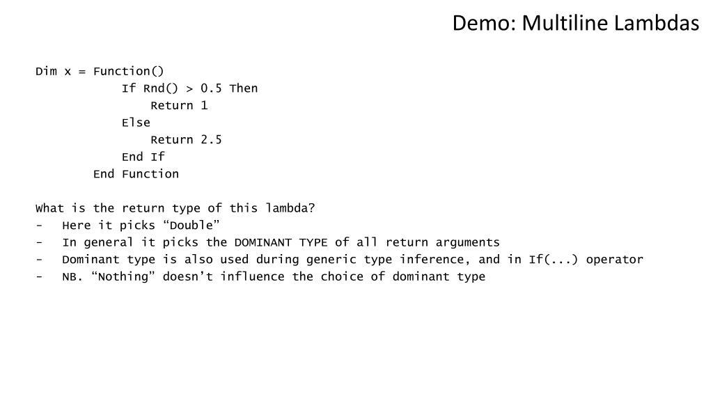 Demo: Multiline Lambdas