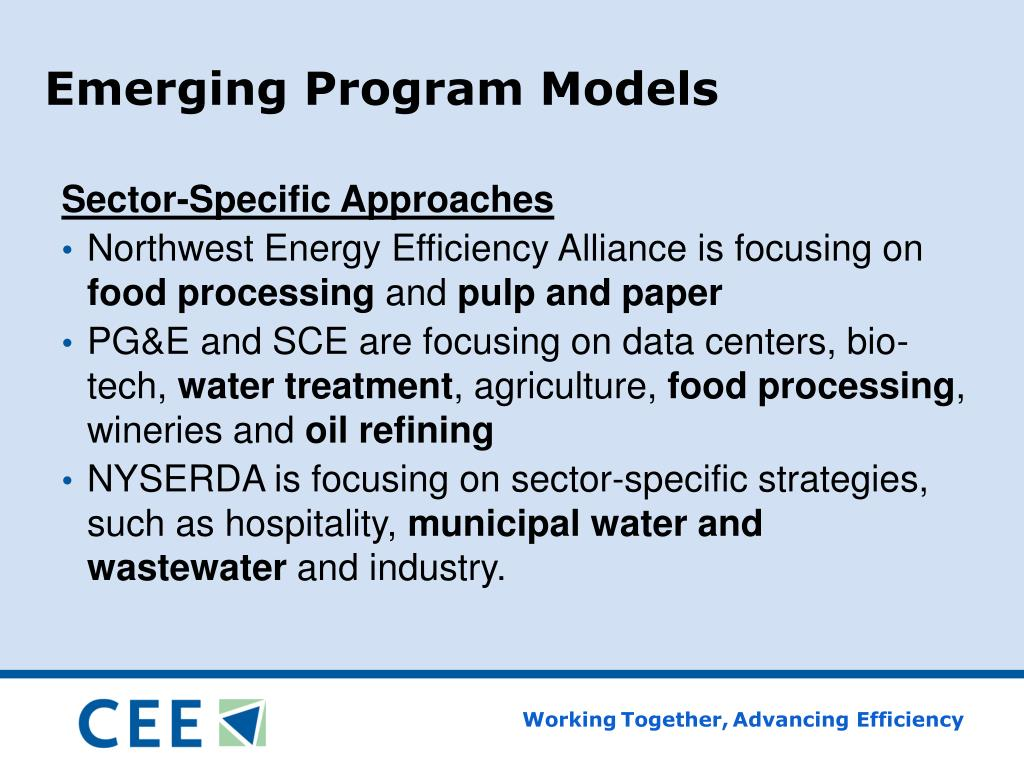 Emerging Program Models