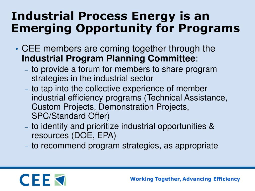 Industrial Process Energy is an Emerging Opportunity for Programs