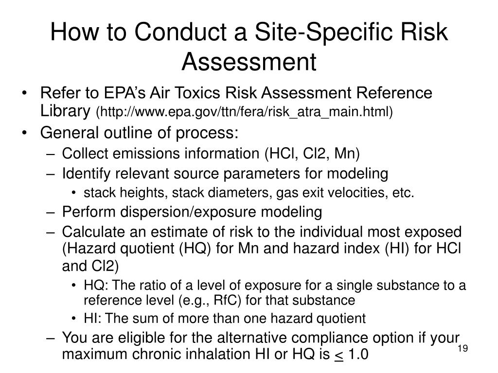 How to Conduct a Site-Specific Risk Assessment