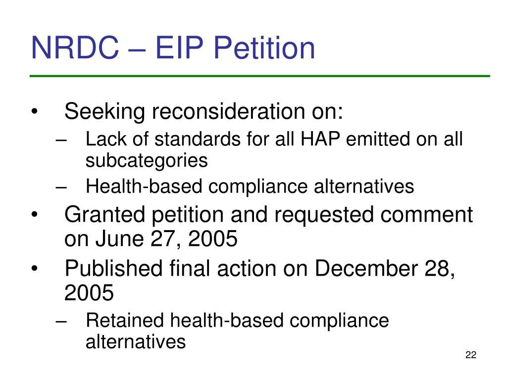 NRDC – EIP Petition