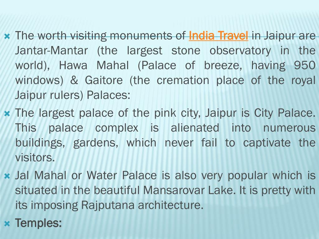 The worth visiting monuments of