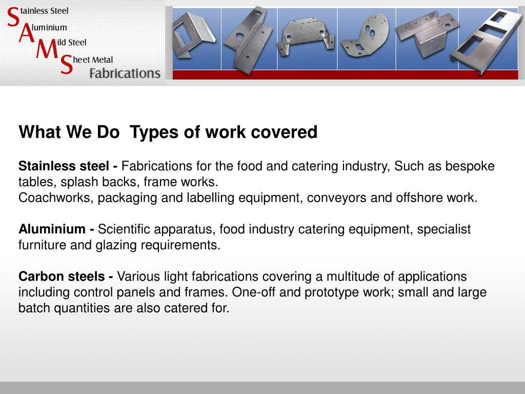 What We DoTypes of work covered