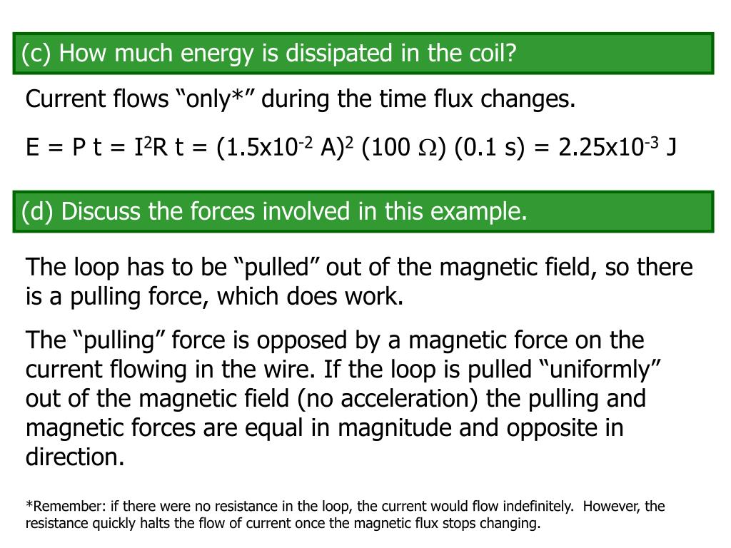 (c) How much energy is dissipated in the coil?