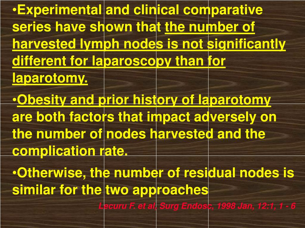 Experimental and clinical comparative series have shown that