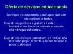 oferta de servi os educacionais