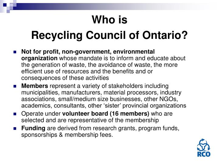Who is recycling council of ontario l.jpg
