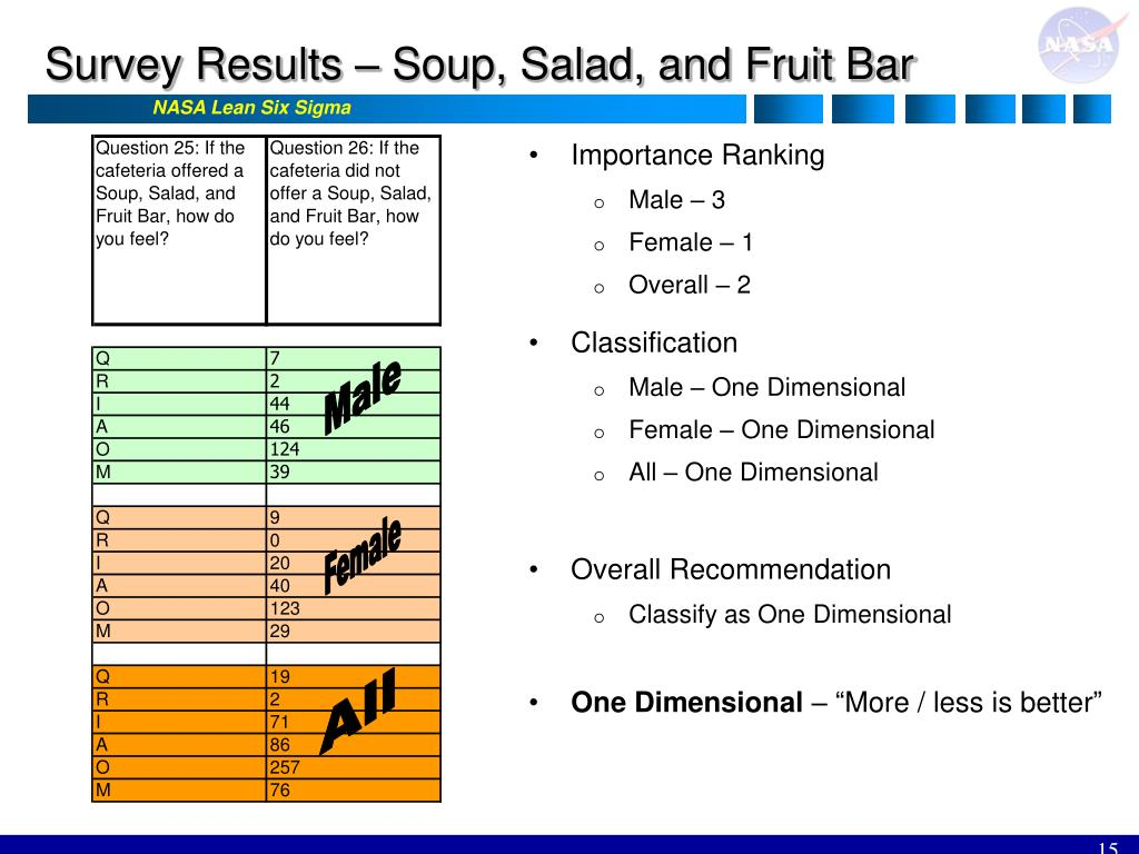 Survey Results – Soup, Salad, and Fruit Bar