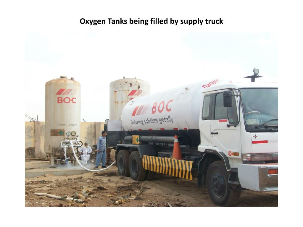 Oxygen Tanks being filled by supply truck