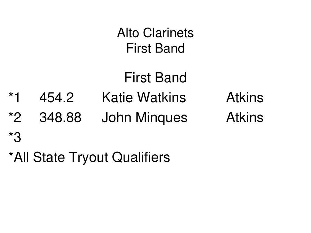Alto Clarinets