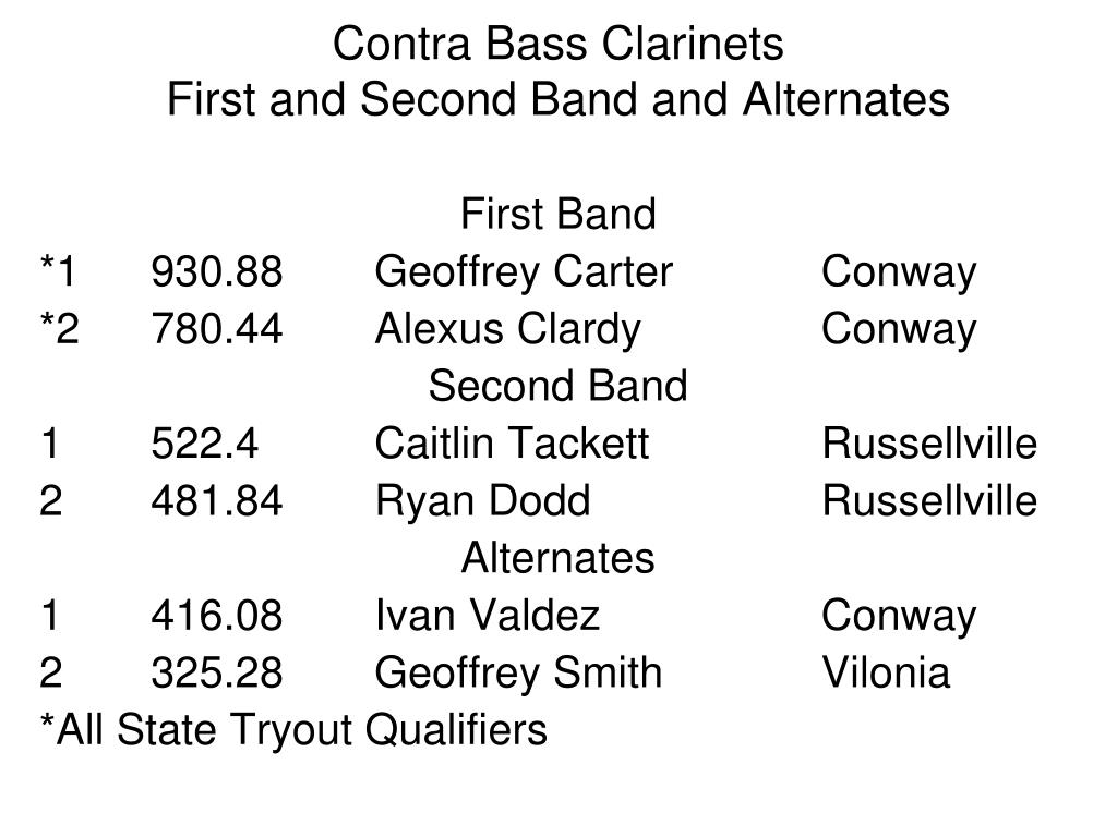 Contra Bass Clarinets