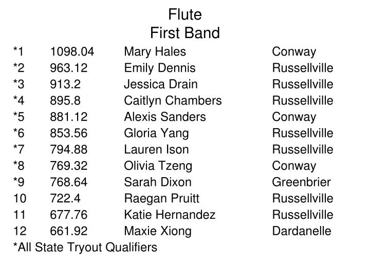 Flute first band