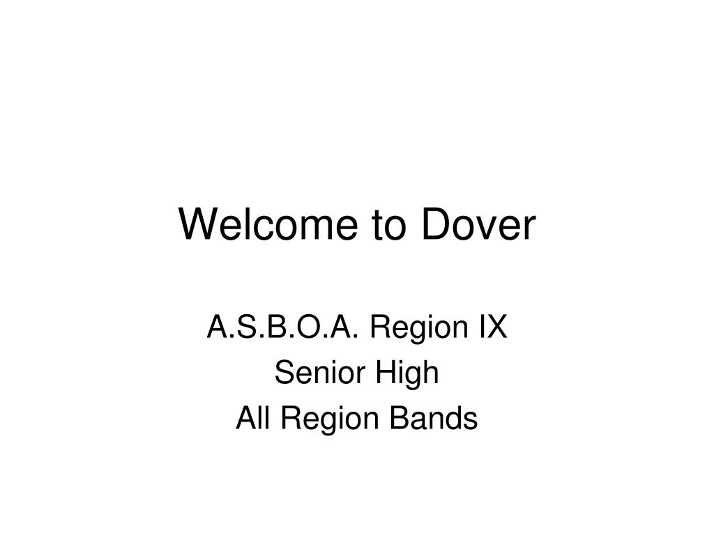 Welcome to Dover