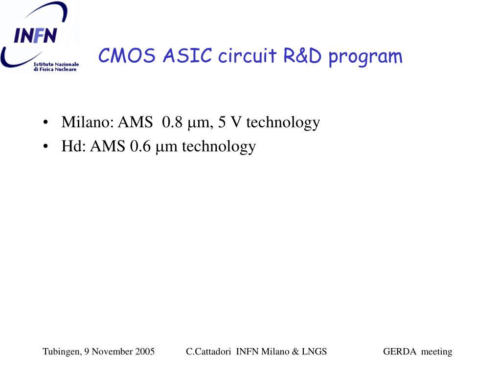 CMOS ASIC circuit R&D program