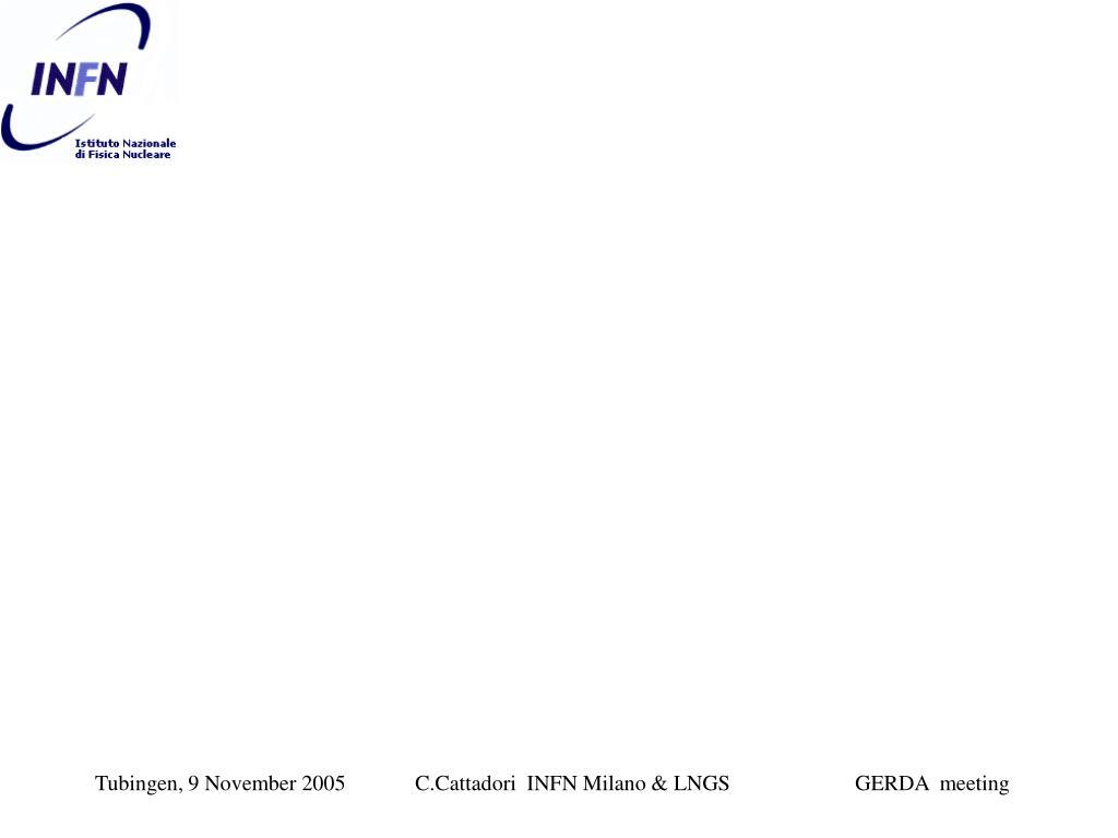 C.Cattadori  INFN Milano & LNGS                       GERDA  meeting