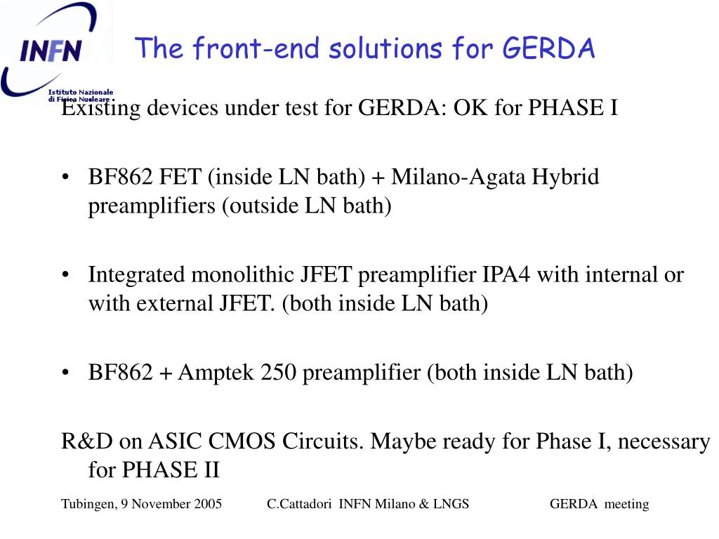 The front-end solutions for GERDA