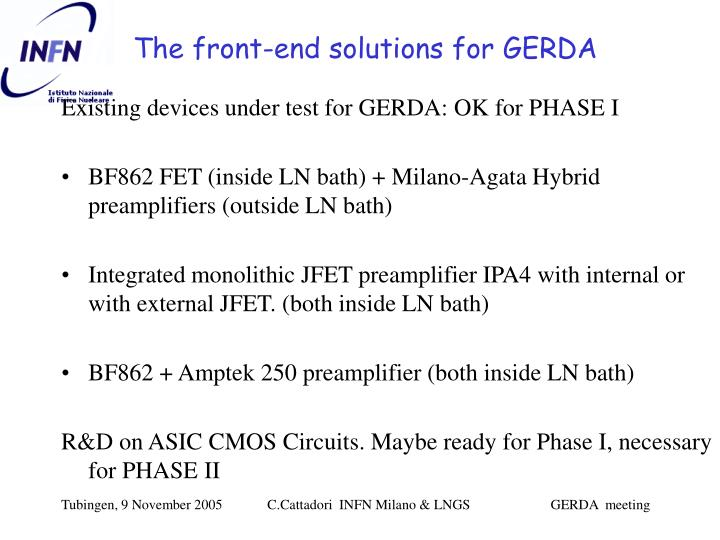 The front end solutions for gerda l.jpg