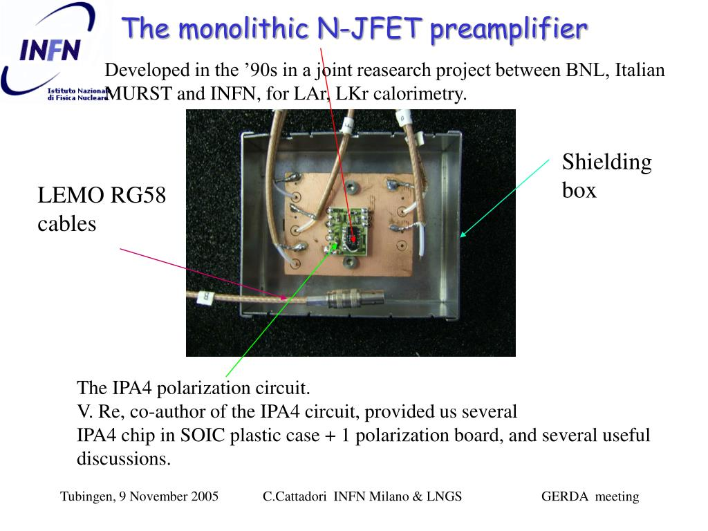 The monolithic N-JFET preamplifier