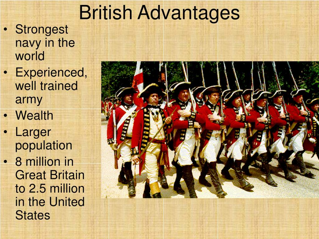 the advantage and disadvantage of revolutionary wars in america and great britain The revolutionary war: advantages and disadvantages of the american revolution: advantages and disadvantages of the american revolution the american and british sides had advantages and disadvantages during the american those were the advantages and disadvantages of the american side.
