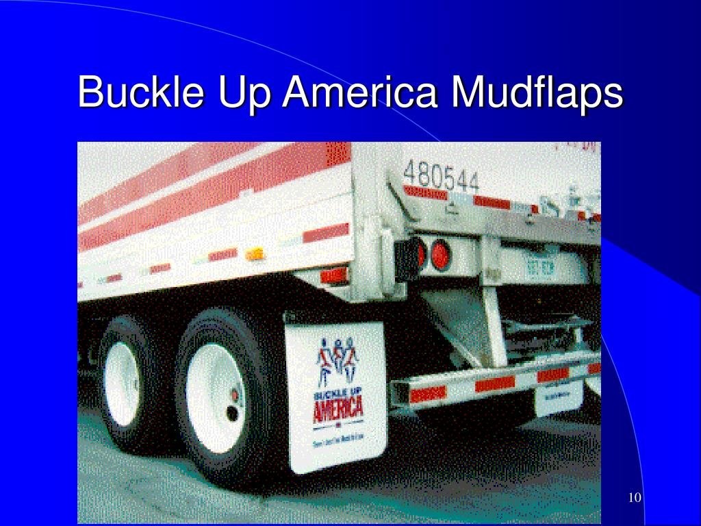 Buckle Up America Mudflaps