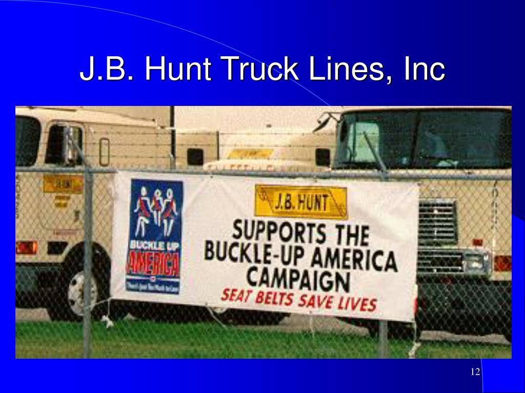 J.B. Hunt Truck Lines, Inc