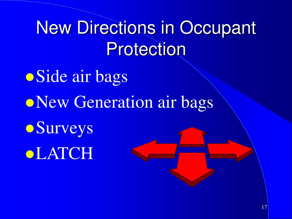 New Directions in Occupant Protection
