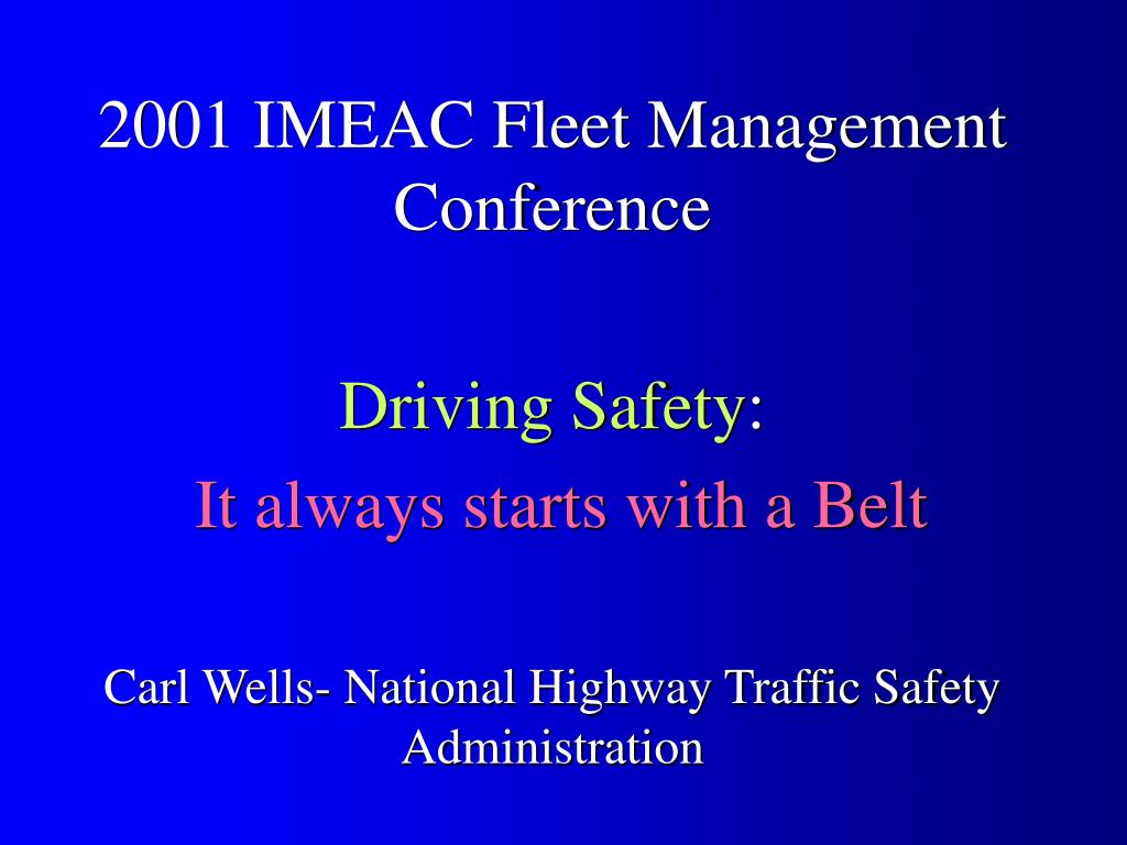 2001 IMEAC Fleet Management Conference