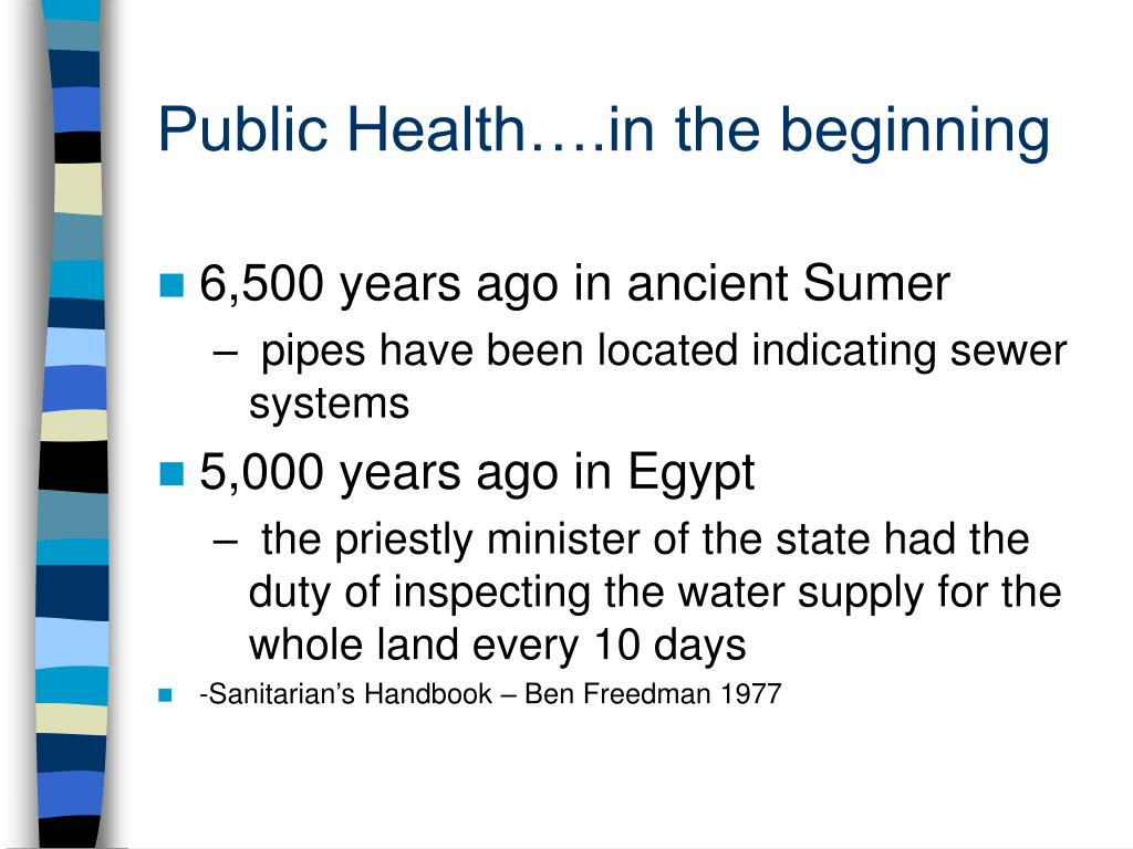 Public Health….in the beginning