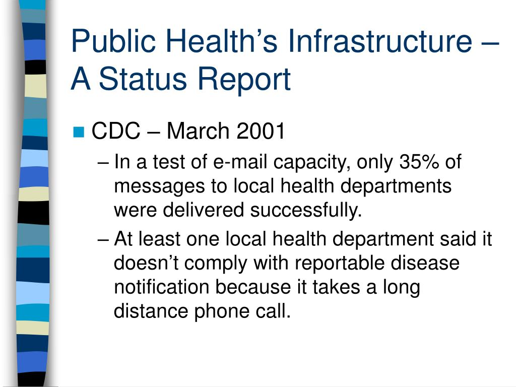 Public Health's Infrastructure – A Status Report
