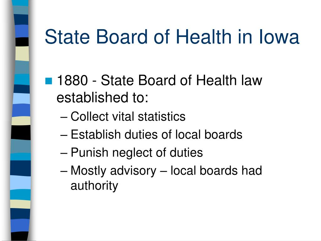 State Board of Health in Iowa