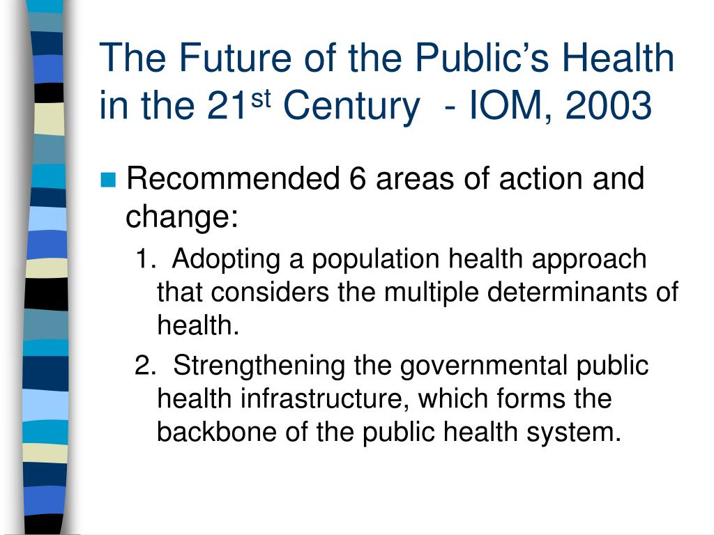 The Future of the Public's Health in the 21