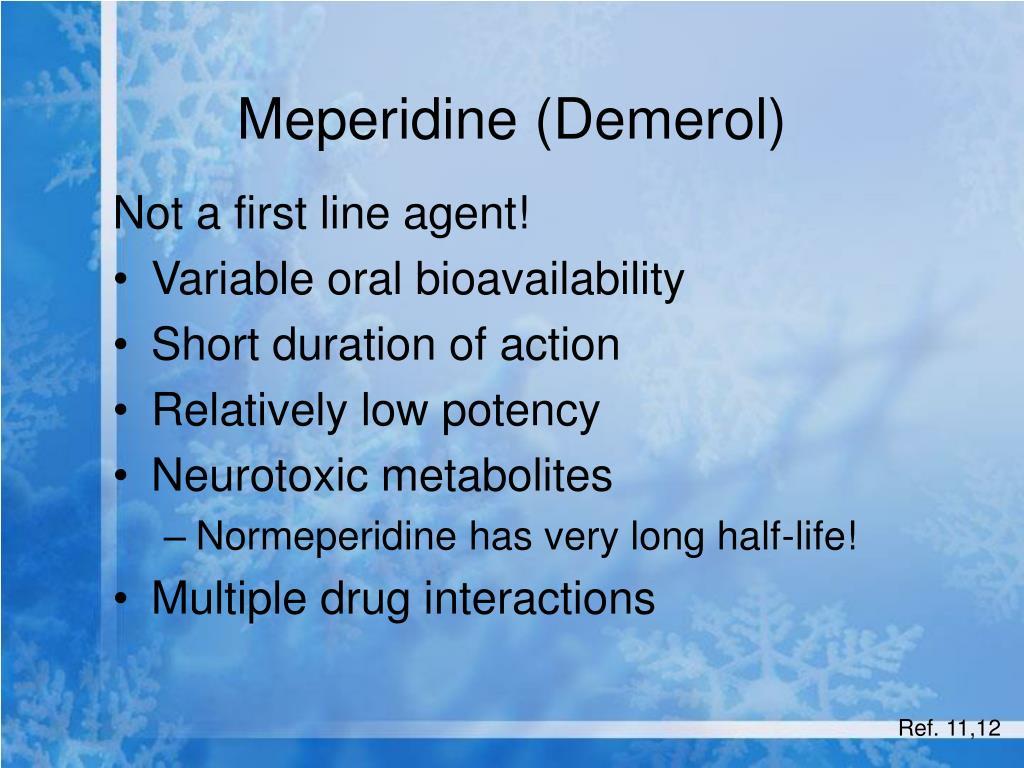 Meperidine (Demerol)