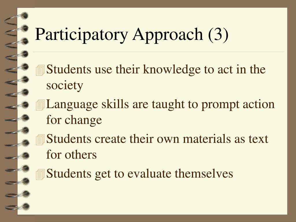Participatory Approach (3)