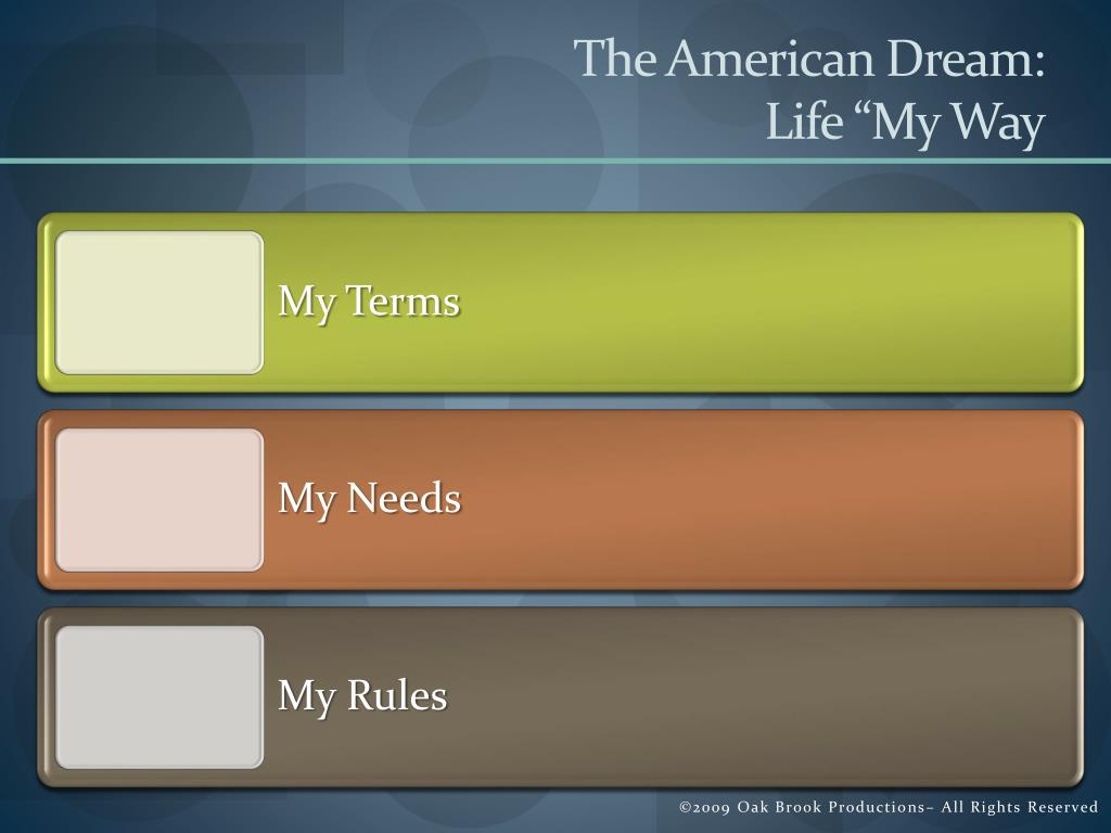 The American Dream:
