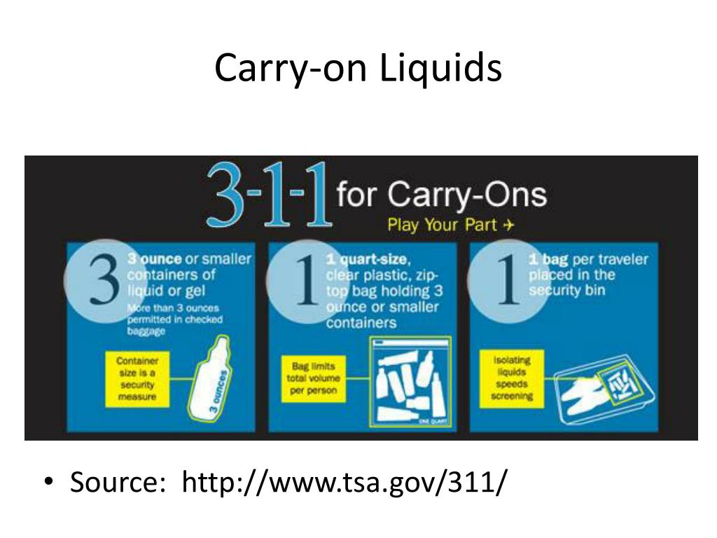 Carry-on Liquids