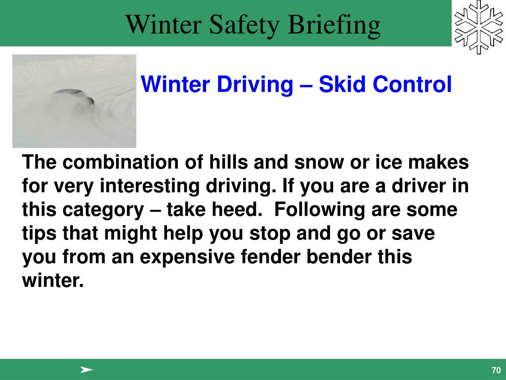 Winter Driving – Skid Control