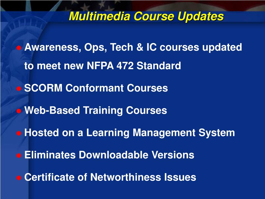 Multimedia Course Updates