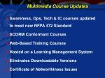 multimedia course updates