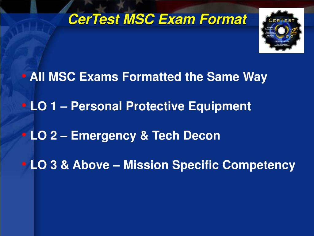 CerTest MSC Exam Format