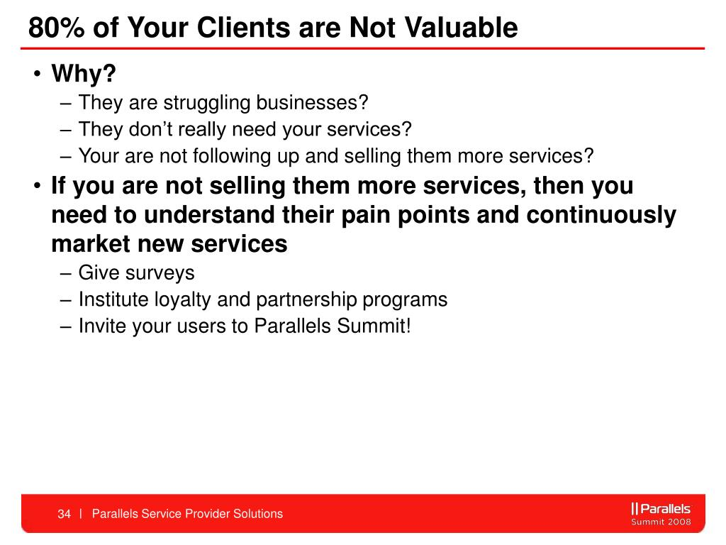 80% of Your Clients are Not Valuable