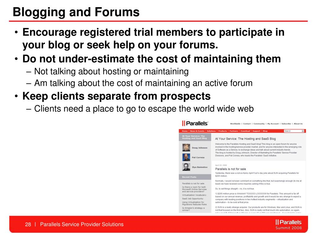 Blogging and Forums