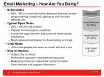 email marketing how are you doing