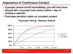 importance of continuous contact