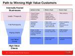 path to winning high value customers