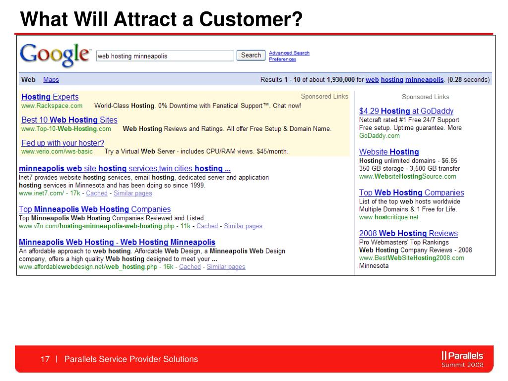 What Will Attract a Customer?