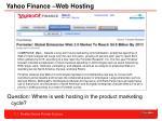 yahoo finance web hosting