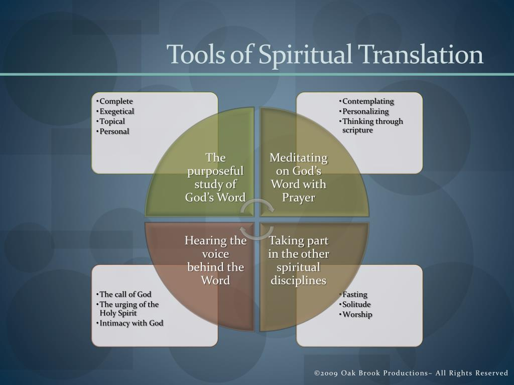 Tools of Spiritual Translation