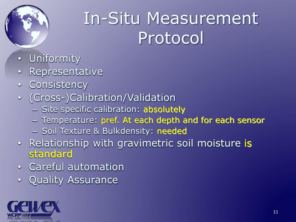 In-Situ Measurement Protocol